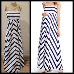 Jessica Simpson MATERNITY chevron maxi dress L